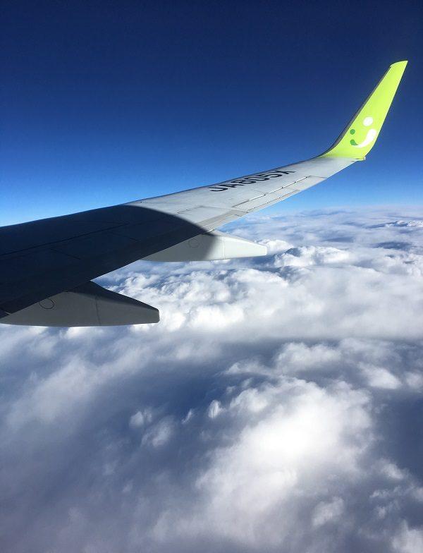 機内からの空の眺め