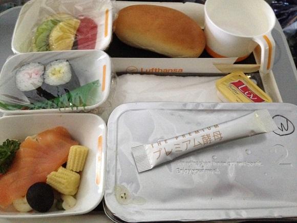 ルフトハンザの機内食とプレミアム酵母