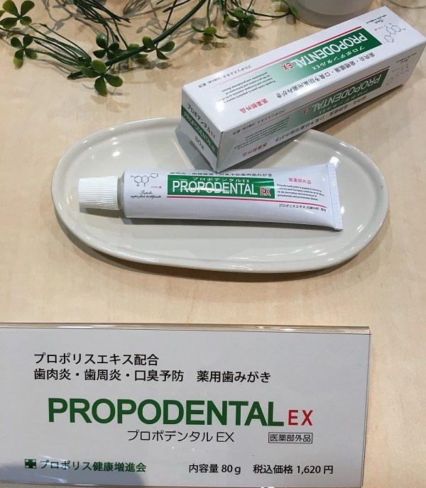 歯周病・口臭予防の専用薬用ハミガキ、プロポデンタルEX