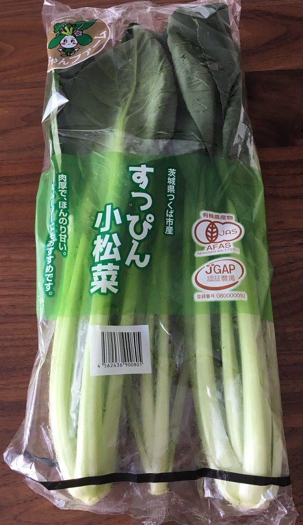 大地を守る会の宅配野菜のお試しセットの小松菜