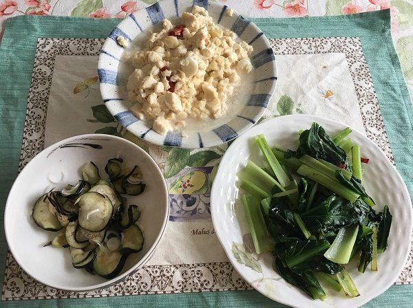 大地を守る会の宅配野菜のお試しセットを調理したモノ