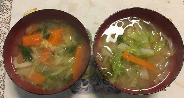 野菜たっぷりの味噌汁